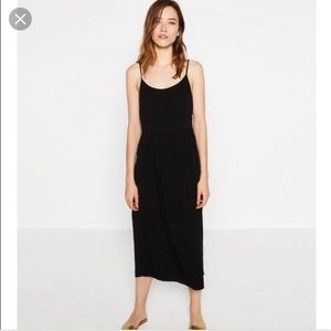 Zara black strappy midi dress